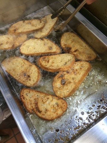 French Toast Bread Frying